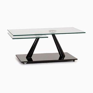 Mesa de centro extensible de vidrio y negro de Naos
