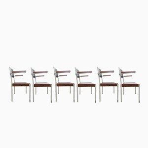 Chaises Empilables Industrielles de Gispen, Pays-Bas, 1960s, Set de 6