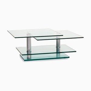 Mesa de centro K 500 ajustable de vidrio y metal de Ronald Schmitt