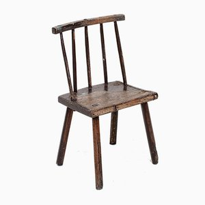 19th-Century Irish Vernacular Stick Back Hedge Chair