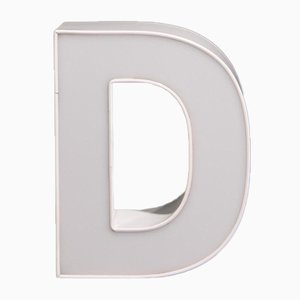 Advertising White Letter D