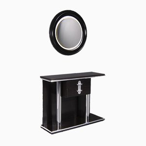 Secretaire with Mirror, 1970s, Set of 2