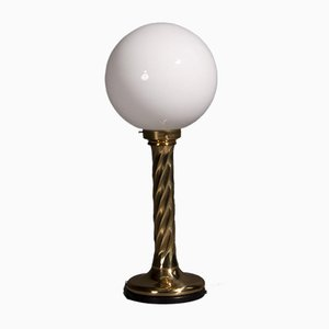 Hollywood Regency Golden Spherical Lamp, 1960s