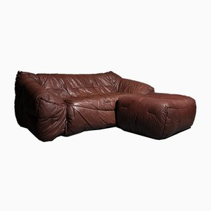 Sofa Bed & Stool by Hans Hopfer for Roche Bobois, 1980s, Set of 2