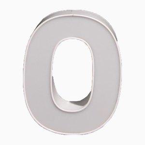 Weißer Buchstabe O