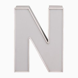 White Advertising Letter N
