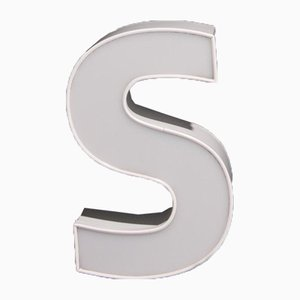 White Advertising Letter S