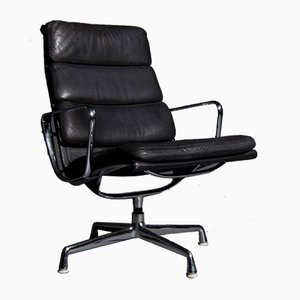 Black Soft Pad EA 216 Armchair by Charles and Ray Eames for Herman Miller, 1960s