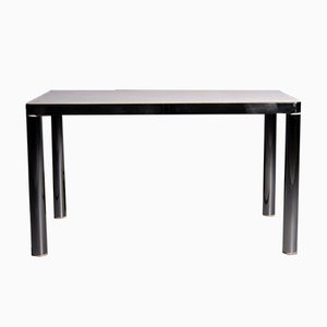 Dining Table with Chromed Steel Frame from Salvarani, 1980s