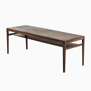 Vintage Rosewood Coffee Table by Ludvig Pontoppidan, Denmark, 1960s