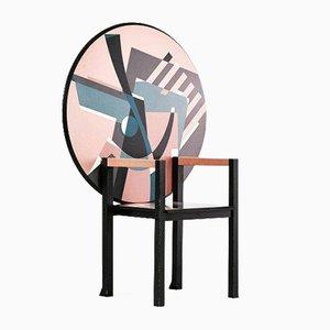 Vintage Zabro Stuhl von Alessandro Mendini für Zanotta, Italien, 1980er