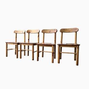 Sedie vintage in pino di Rainer Daumiller per Hirtshals Sawmill, Danimarca, 1975 circa, set di 4