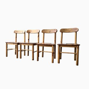 Vintage Danish Pine Chairs by Rainer Daumiller for Hirtshals Sawmill, ca. 1975, Set of 4