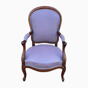 19th Century Napoleon III Mahogany Lounge Chair