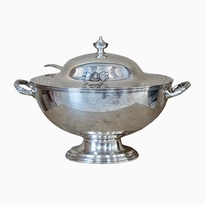 Antique Edwardian Silver-Plated Tureen from Maple & Co London, 1900s