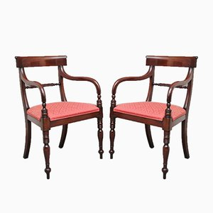 Mahogany Rope Back Dining Chairs, 1980s, Set of 8