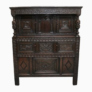 17th Century Oak Court Cupboard