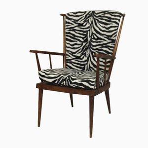 Zebra Fabric Armchair from Baumann, 1960s