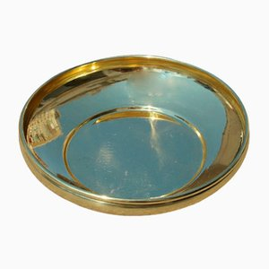 Italian Gold Embossed Brass Bowl, 1950s