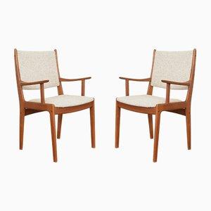 Chaises d'Appoint Mid-Century en Teck par Johannes Andersen pour Uldum Møbelfabrik, Danemark, 1960s, Set de 2