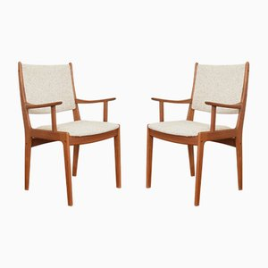 Mid-Century Danish Teak Side Chairs by Johannes Andersen for Uldum Møbelfabrik, 1960s, Set of 2