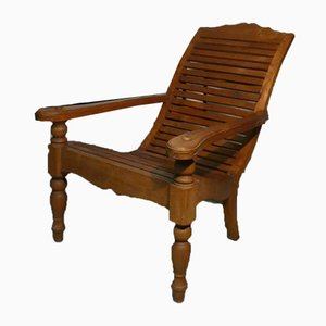 Antique Teak Chaise Lounge