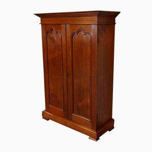 Mueble antiguo pequeño de teca con dos puertas