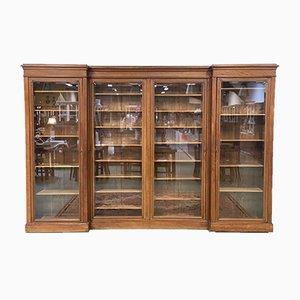19th Century Louis Philippe Blonde Oak Bookcase