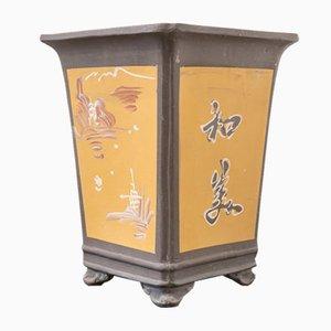 Mid-Century Keramiktopf mit chinesischem Dekor, 1950er