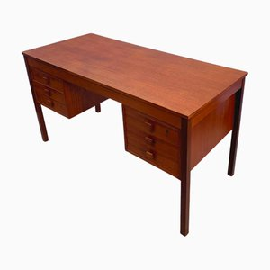 Mid-Century Danish Teak Desk from Domino Mobler, 1960s