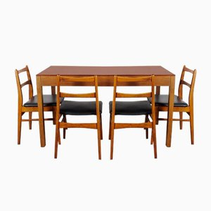 Dining Table & Chairs Set from UP Závody, 1970s, Set of 5