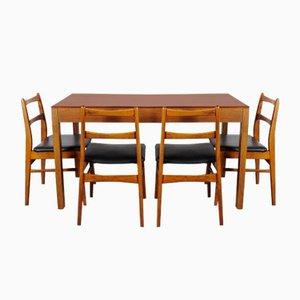 Esstisch & Stühle von UP Závody, 1970er, 5er Set