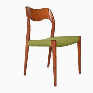 Danish Model 71 Dining Chairs by Niels Otto Møller for J.L. Moller Møbelfabrik, 1950s, Set of 2