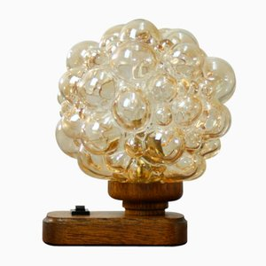 Mid-Century Bubble Glass Table Lamp, 1960s