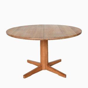 Danish Extendable Oak Dining Table from CJ Rosengaarden, 1980s