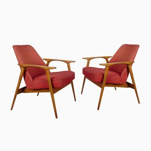 Mid-Century Armchairs by Miroslav Navratil, 1960s, Set of 2