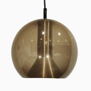 Glass Globe Pendant Lamps by Franck Ligtelijn for Raak, 1960s, Set of 2