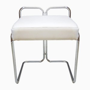 White Chrome Stool, 1970s
