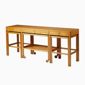 Sideboard & Nesting Tables from Nordiska Kompaniet, Sweden, 1950s