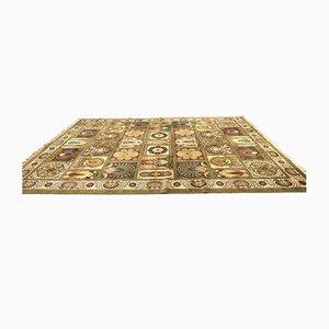 Großer Vintage Teppich mit Fransenmuster