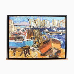 The Old Port Marseille by Françoise Pirró, 1970s