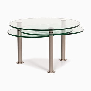 Glass and Metal Adjustable Intermezzo Coffee Table by Georg Appeltshauser for Draenert