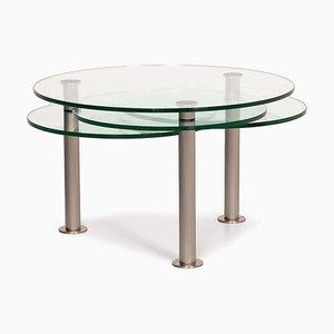 Mesa de centro regulable Intermezzo de vidrio y metal de Georg Appeltshauser para Draenert