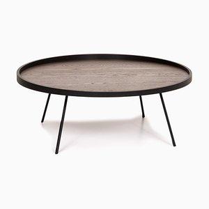 Tavolino da caffè in canna e metallo color antracite di Leolux
