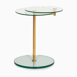 Gold and Glass Adjustable Function Coffee Table from Ronald Schmitt