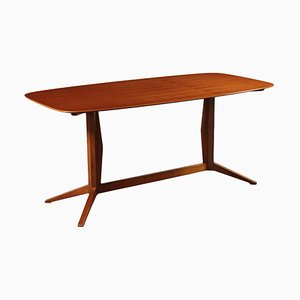 Beech and Teak Veneer Table, Italy, 1960s