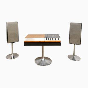 Vintage 3200 HiFi Musik- und Plattenspieler Set von Wega, 1960er