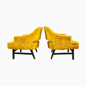 Upholstered Lounge Chairs by Harvey Probber, US, 1960s, Set of 2