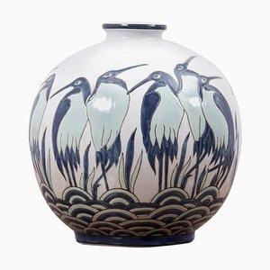 Art Deco Vase Ad 003-2 im Stil von Charles Catteau von Keralouve, Belgien, 1970er