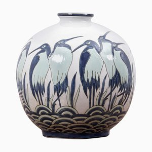 Art Deco Vase Ad 003-2 in Style of Charles Catteau from Keralouve, Belgium, 1970s
